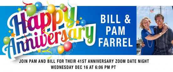Bill And Pam's 41st Anniversary Zoom!